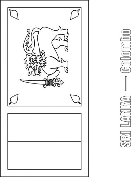 Sri Lanka Flag Coloring Page Download Free Sri Lanka Flag
