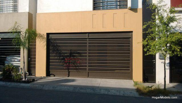 Reja moderna para garage de estilo sencillo y minimalista for Puerta herreria minimalista