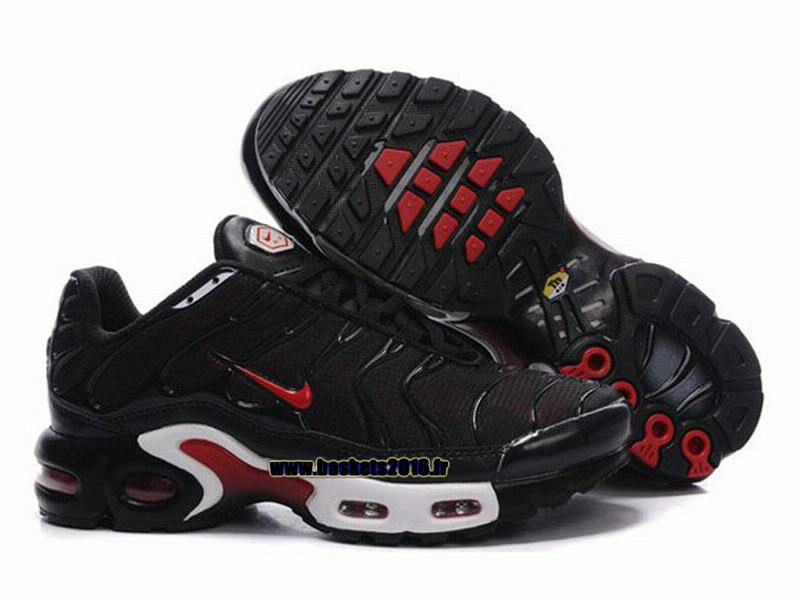 the best attitude 9be85 5f5b9 Nike Air Max Tn Requin Tuned 1 Chaussures Baskets2016 Pas Cher Pour Femme  Noir - Rouge - Blanc