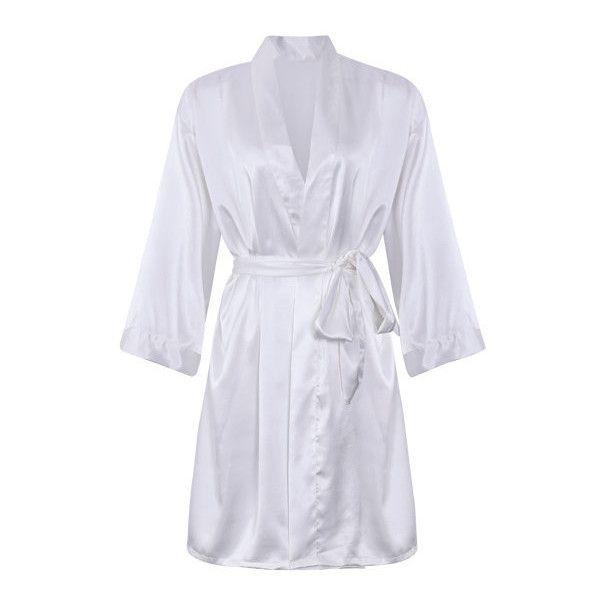 Comfortable long sleeved smooth silk loungewear night-robe ($27 ...