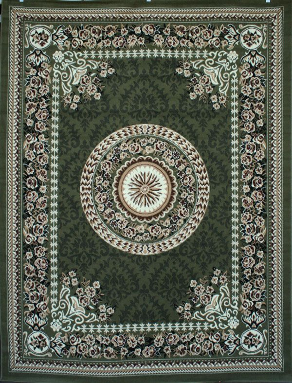 Oriental Rug Sage Green 8x11