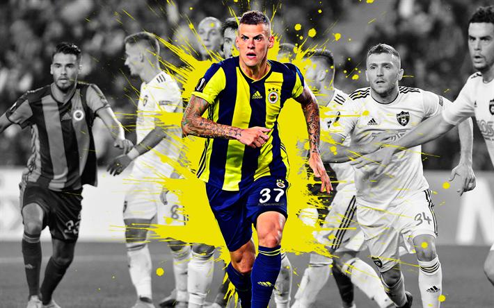 Download Wallpapers Martin Skrtel 4k Art Fenerbahce Slovak Football Player Defender Yellow Splashes Of Paint Grunge Art Super League Turkey Football B Football Players Football Grunge Art