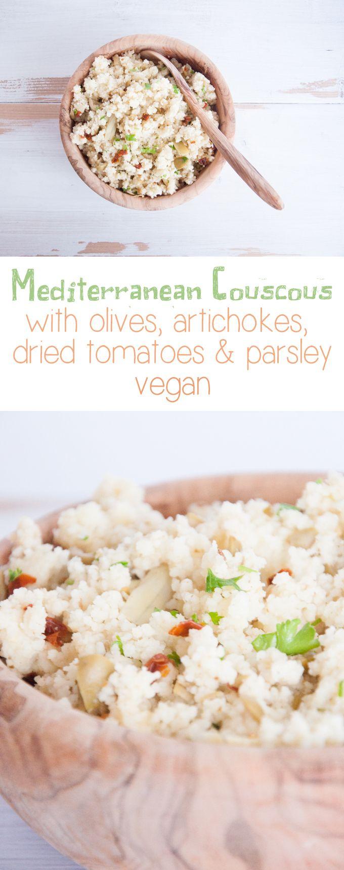 Mediterranean Couscous | ElephantasticVegan.com