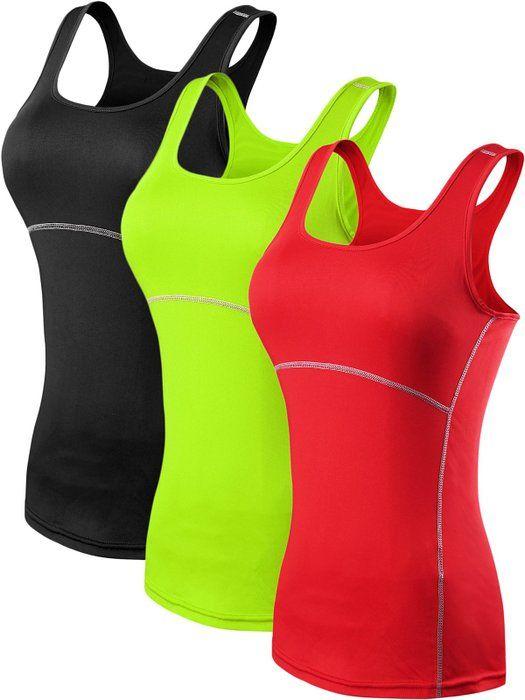 4bb18b330eb8ec Neleus Women s 3 Pack Dry Fit Compression Long Tank Top Athletic Shirts