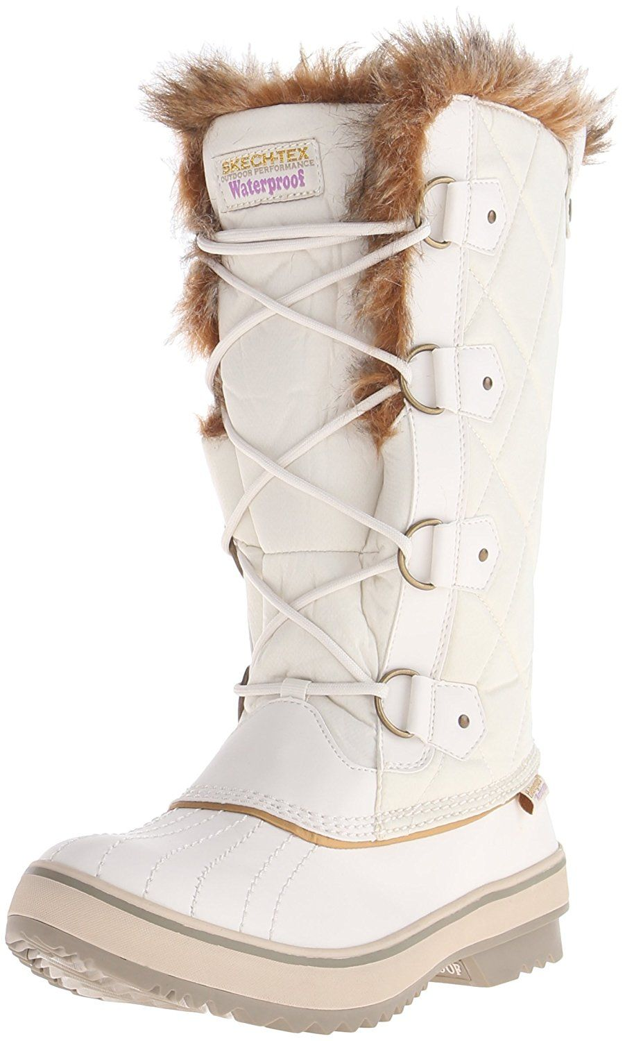 fine quality detailed look official Skechers Women's Highlanders-Tall Quilt Snow Boot ...