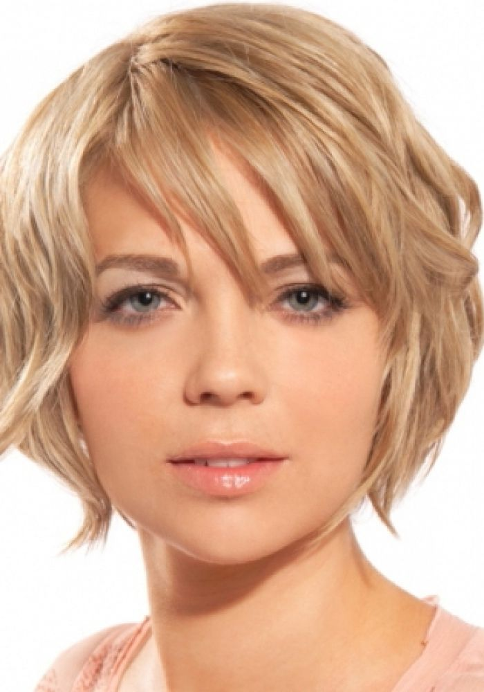 Short Haircuts For Round Face 2015 2016 Messy Short Hair Round Face Haircuts Oval Face Hairstyles