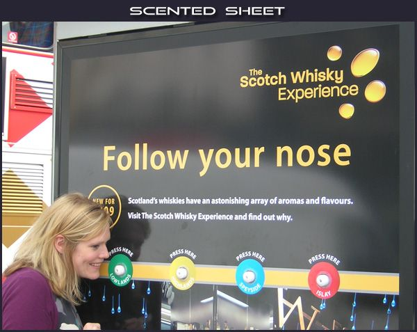 Interactive scent billboard/POS for whiskey gets customers ...