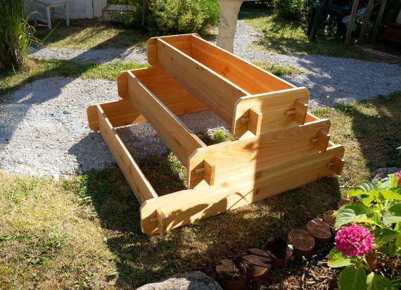 Raised Planter Garden Gift Wooden Planter Box Outdoor Planter Herb Garden Vegetable Garden 1x3 2x3 3x3 Cedar Raised Garden Bed Kit 3 Tier