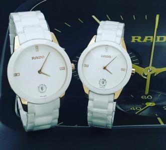 طقم ساعات رادو مزودوج للبيع في الرياض Silver Watch Watches Accessories