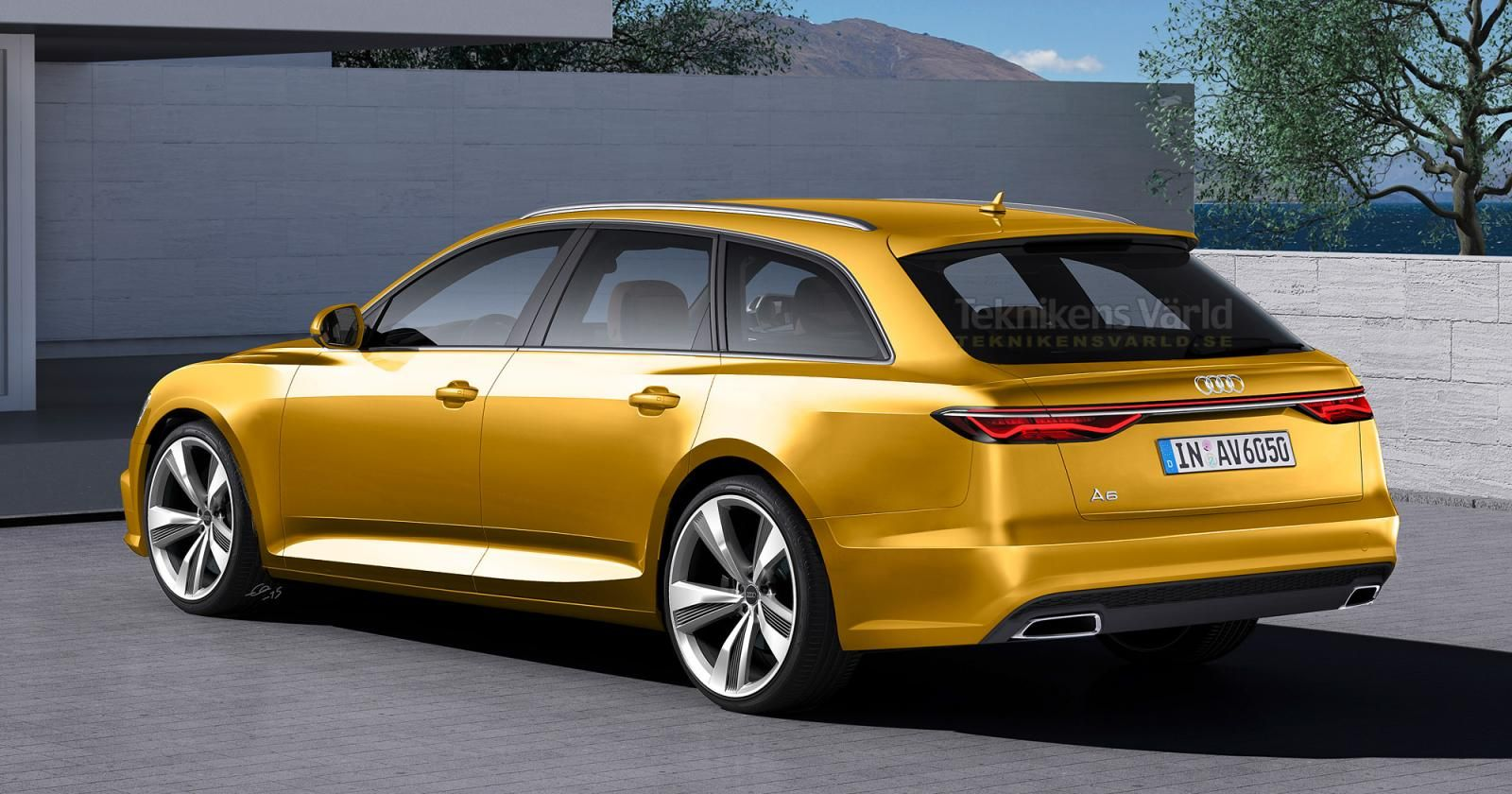 Gold 2017 audi a6 redesign yellow