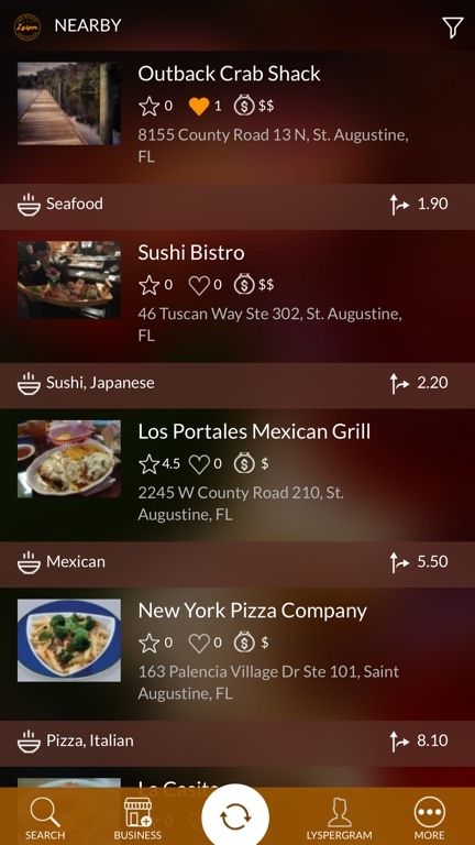 Check Out Nearby Restaurants In Your Area It S Simple And Easy With The Lysper