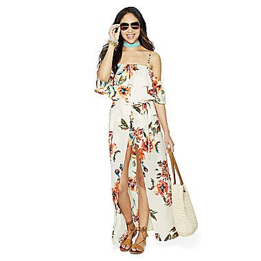 FREE SHIPPING AVAILABLE! Buy Love Reigns 3/4 Sleeve Maxi Dress-Juniors at JCPenney.com today and enjoy great savings.
