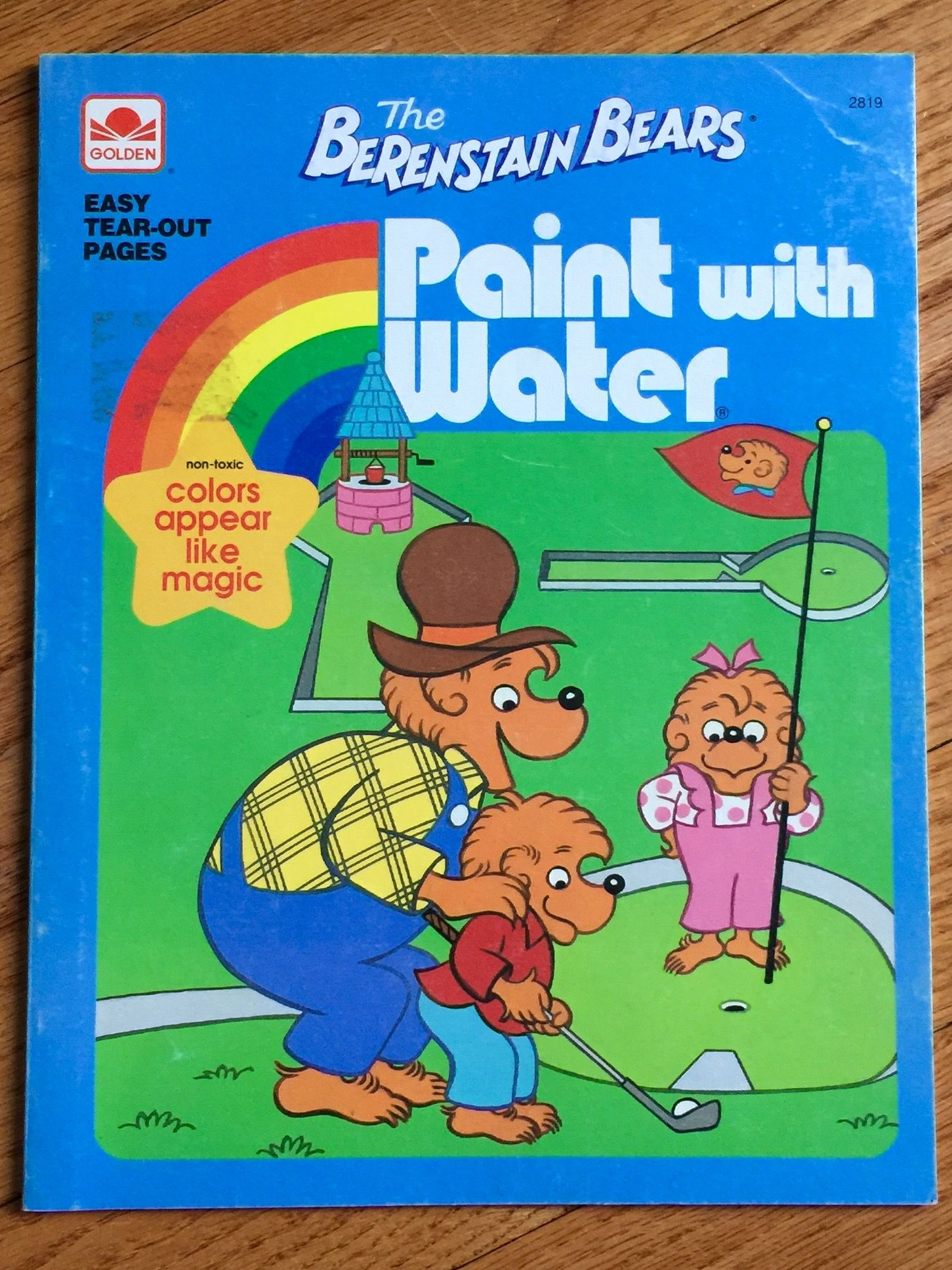 remember Paint with Water books? Coloring books