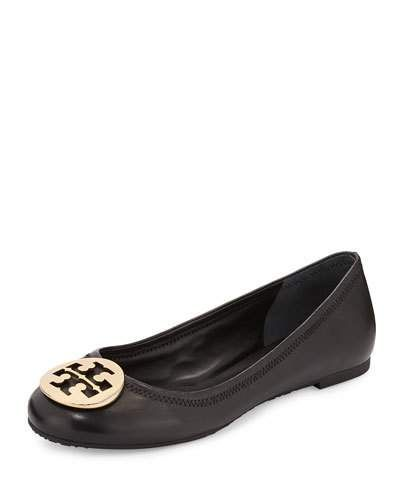 f94b55b17ba9a7 TORY BURCH Reva Leather Ballerina Flat