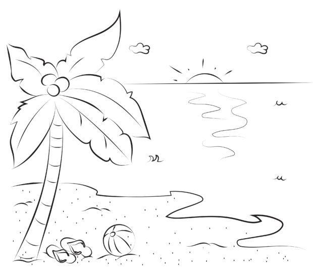 fehlersuchbild palme und strand  finde die unterschiede