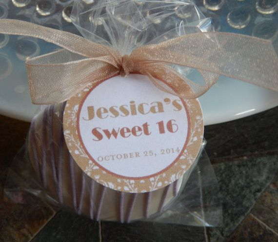 Sweet 16 Birthday Favor Tags  For Cake by SimplyDivineDesserts