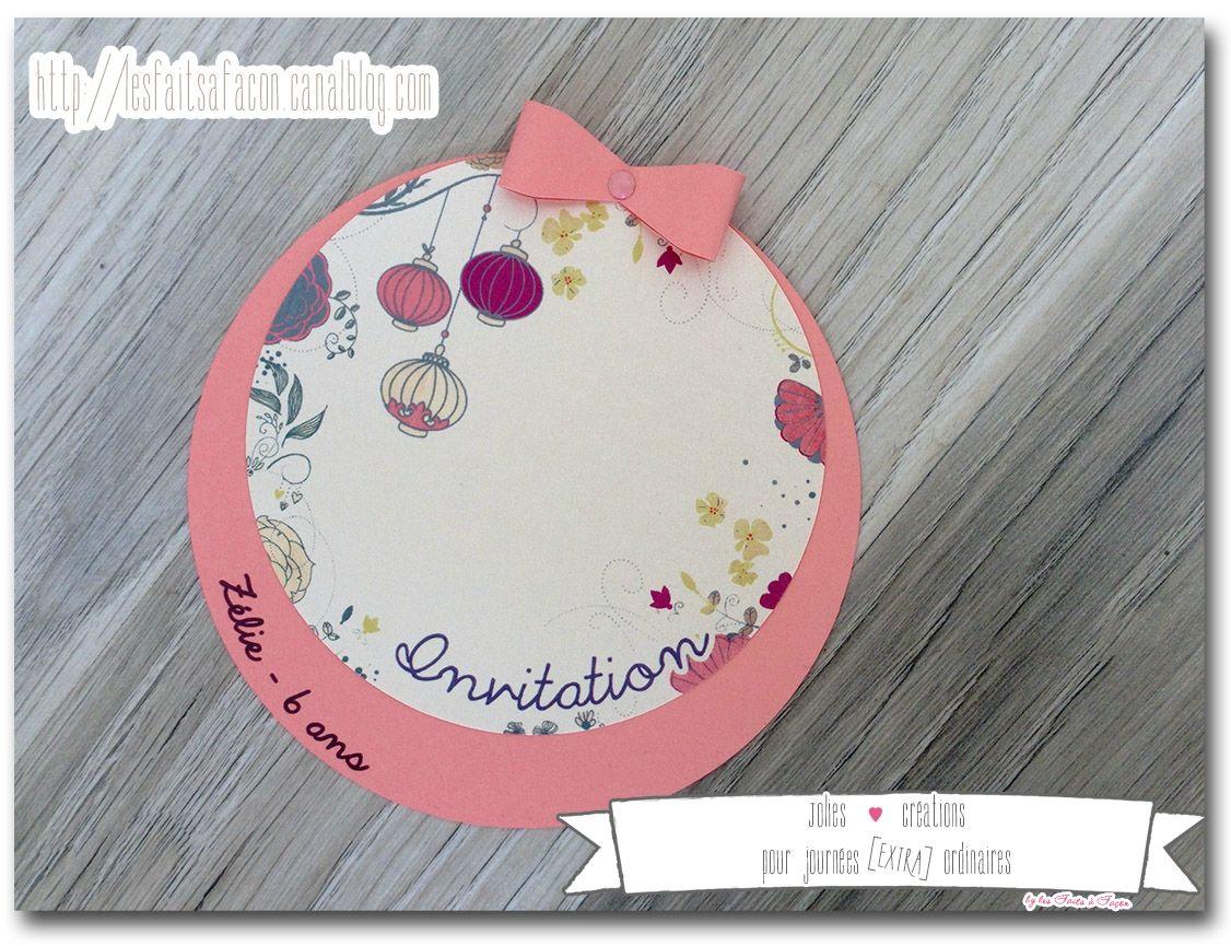 Invitation ronde pour l'anniversaire entre copines de Choupinette / boites à bonbons pour les ...
