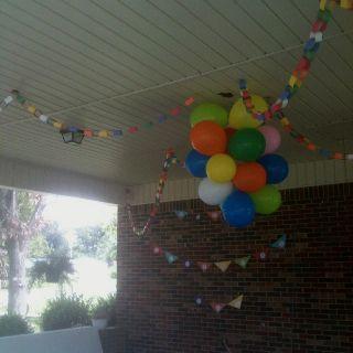 Under The Carport Birthday Decorations Birthday Decorations Party Planning 1st Birthday