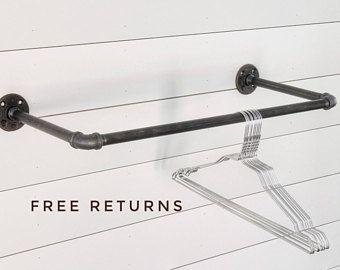 Bon Industrial Pipe Clothing Rack ⋆ Industrial Hanger ⋆ Retail Display Rack ⋆  Pipe Rack⋆closet Rod ⋆ Commercial Display ⋆ Pipe Bar⋆ Garment Rack