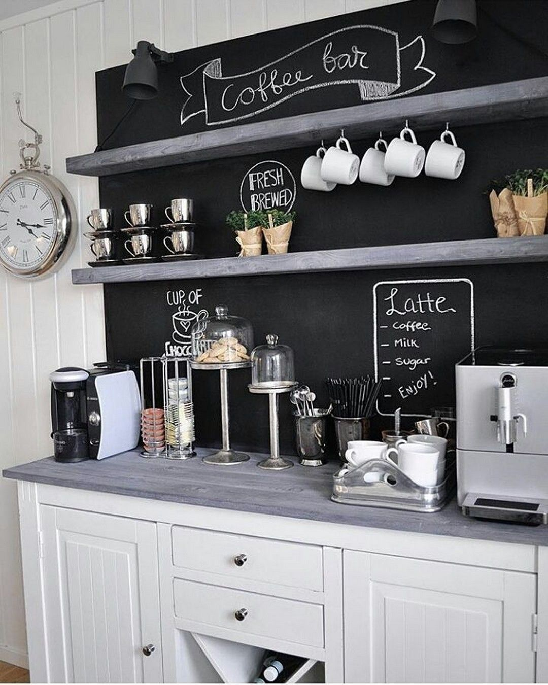 10 Finest Diy Coffee Bar Decor Ideas You Need To See Coffee Bar Home Coffee Bars In Kitchen Coffee Kitchen