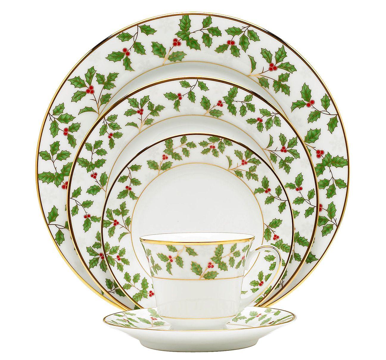 Noritake China: Giftware Items: Holiday: Holly and Berry Gold ...