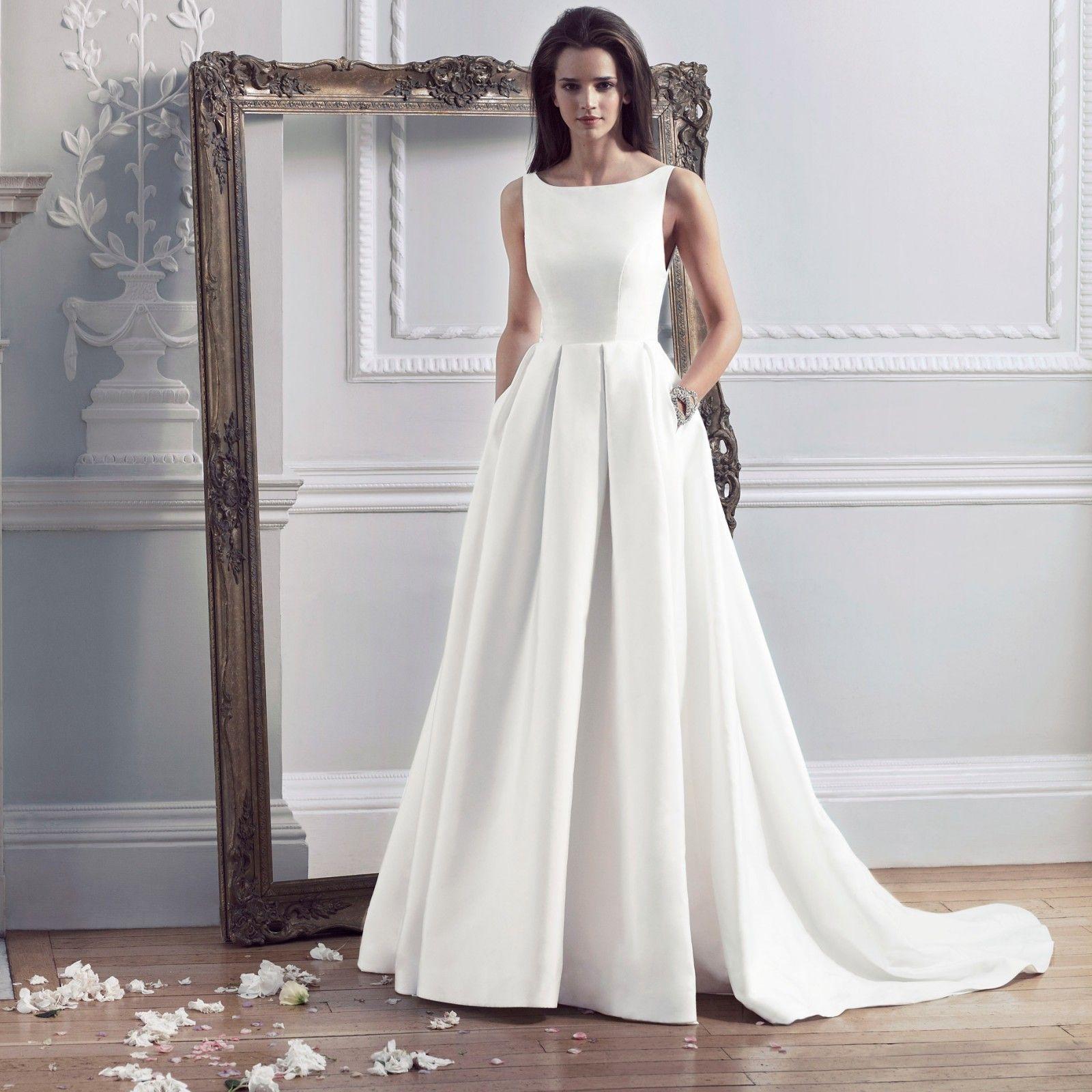 Hepburn Wedding Dress Caroline Castigliano Wedding Dress With Pockets A Line Wedding Dress Wedding Dresses