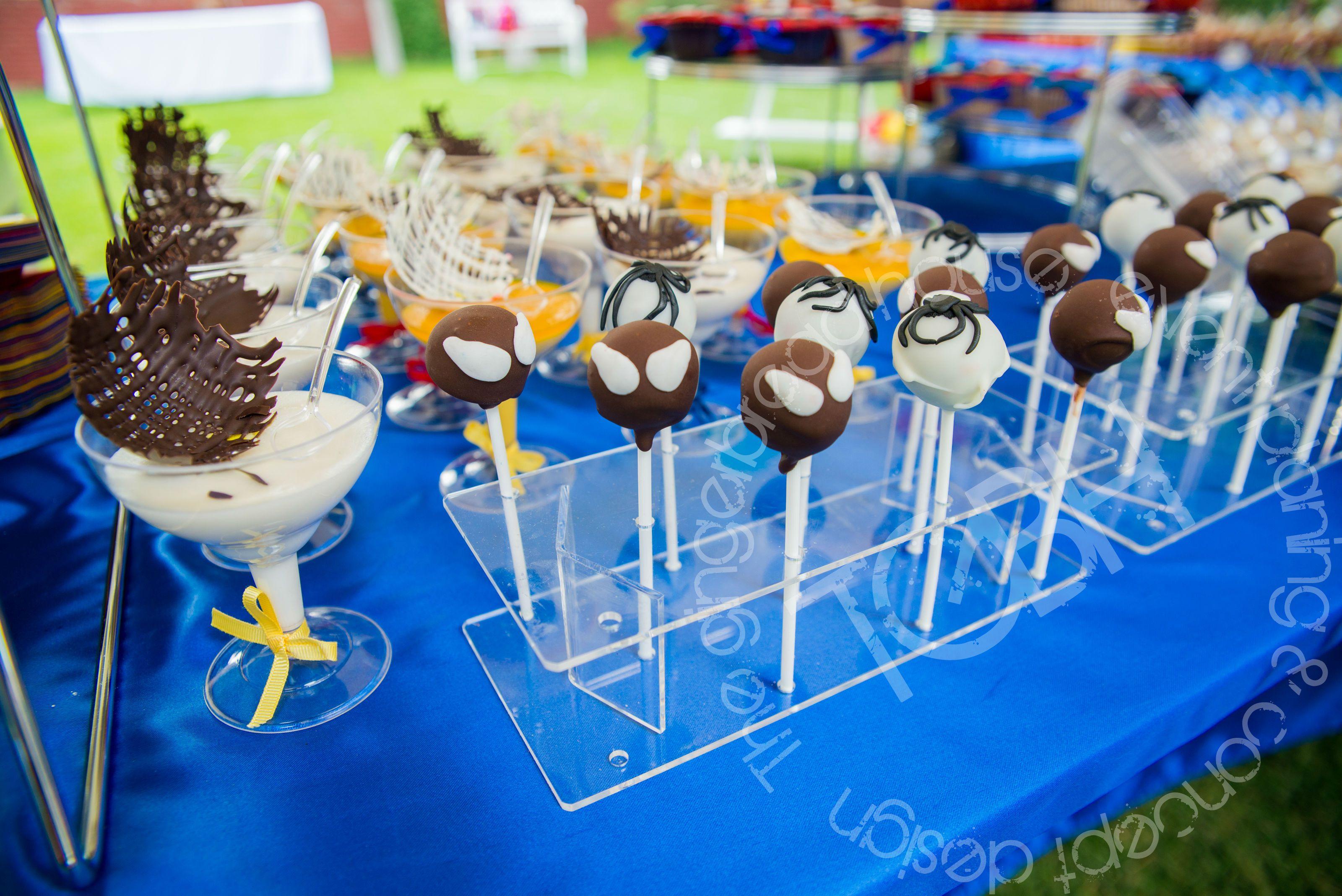 Spiderman Birthday Party Dessert Bar Cakepops