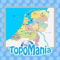 Oefen Topografie Provincies Hoofdsteden En Wateren Van