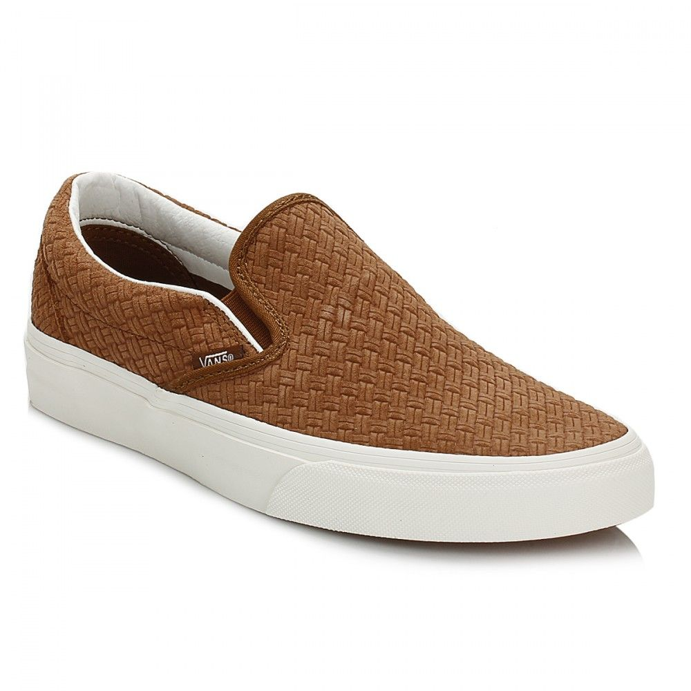 Brown · Vans Mens Dachshund Braided Suede Classic Slip On Trainers