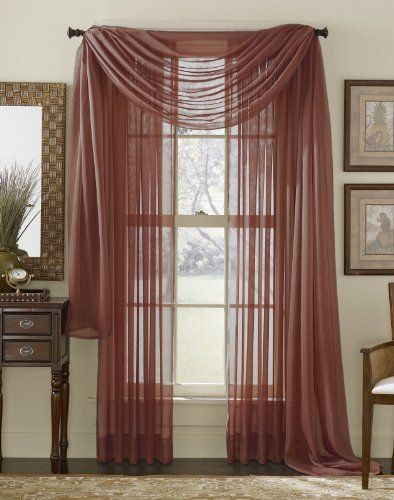 Sheer 3 Piece Window Curtain Set An Easy Way To Add The Finishing Touch To  Your Window Treatments. These Sheer 3 Piece Window Curtain Sets Are  Available In ...