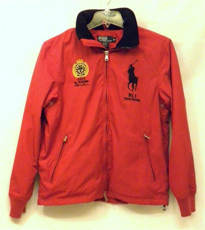 NWT Red Ralph Lauren RL1 Italy Hooded Big Pony Team Race Insulated Jacket  Men's Small #