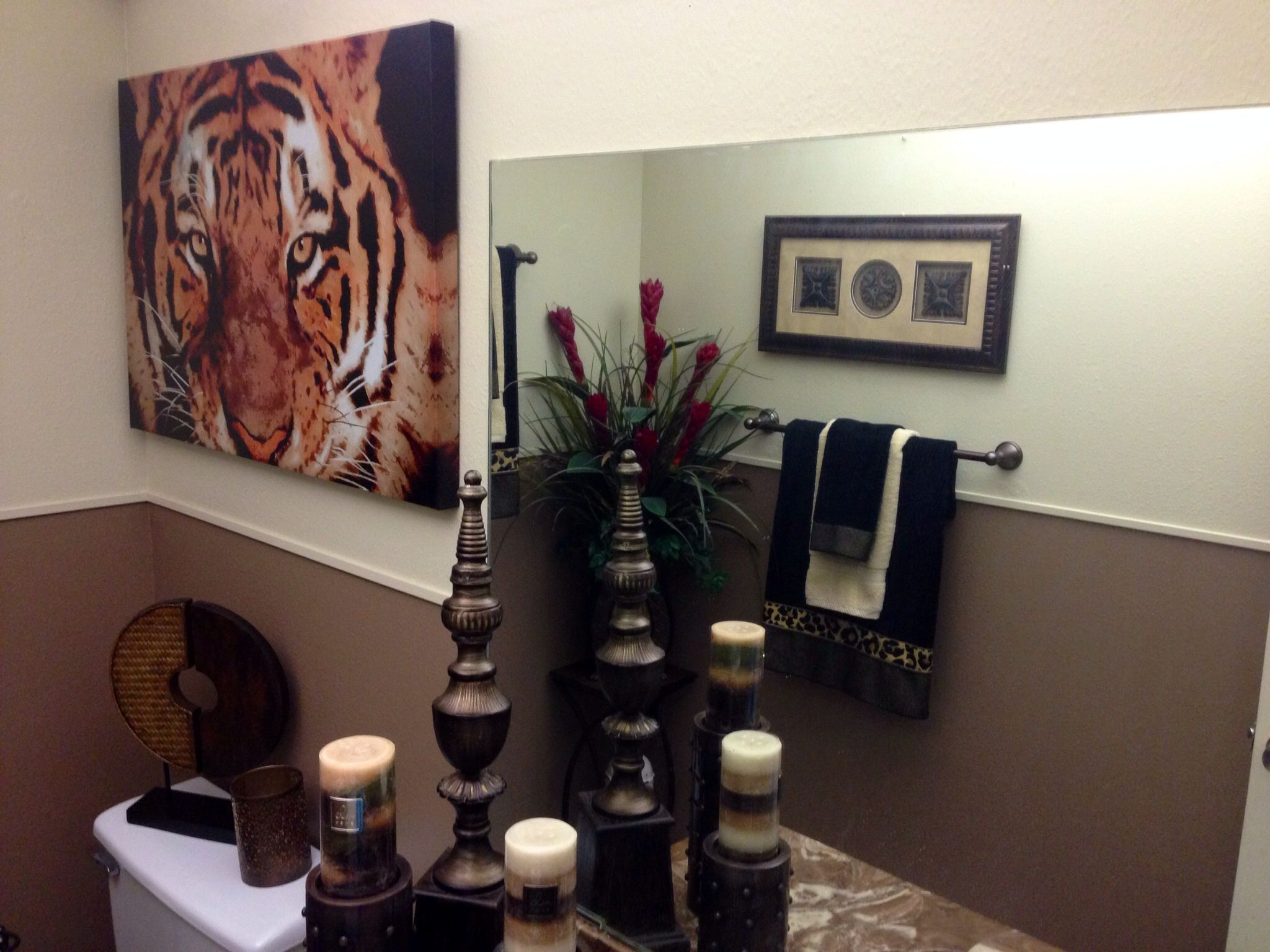 Eye Of The Tiger, Animal Print Bathroom Gorgeously Designed By