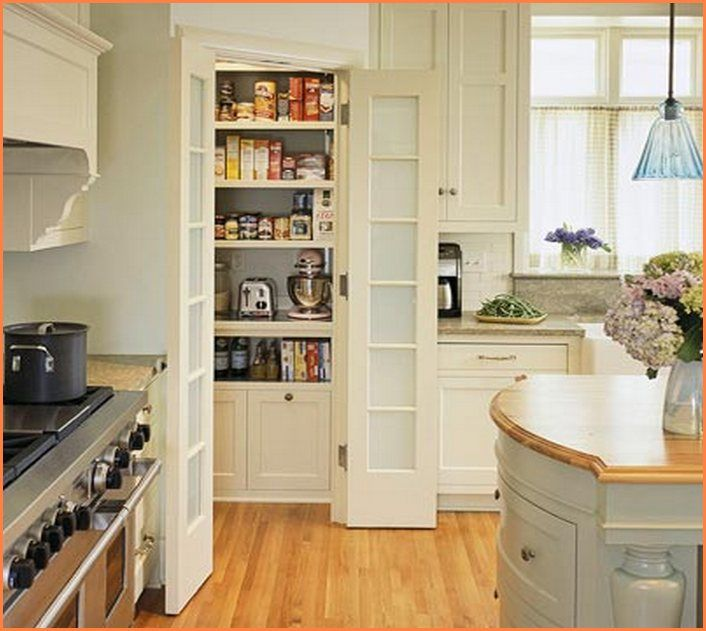 Kitchen Pantry Door Options: Tall Corner Pantry Cabinet
