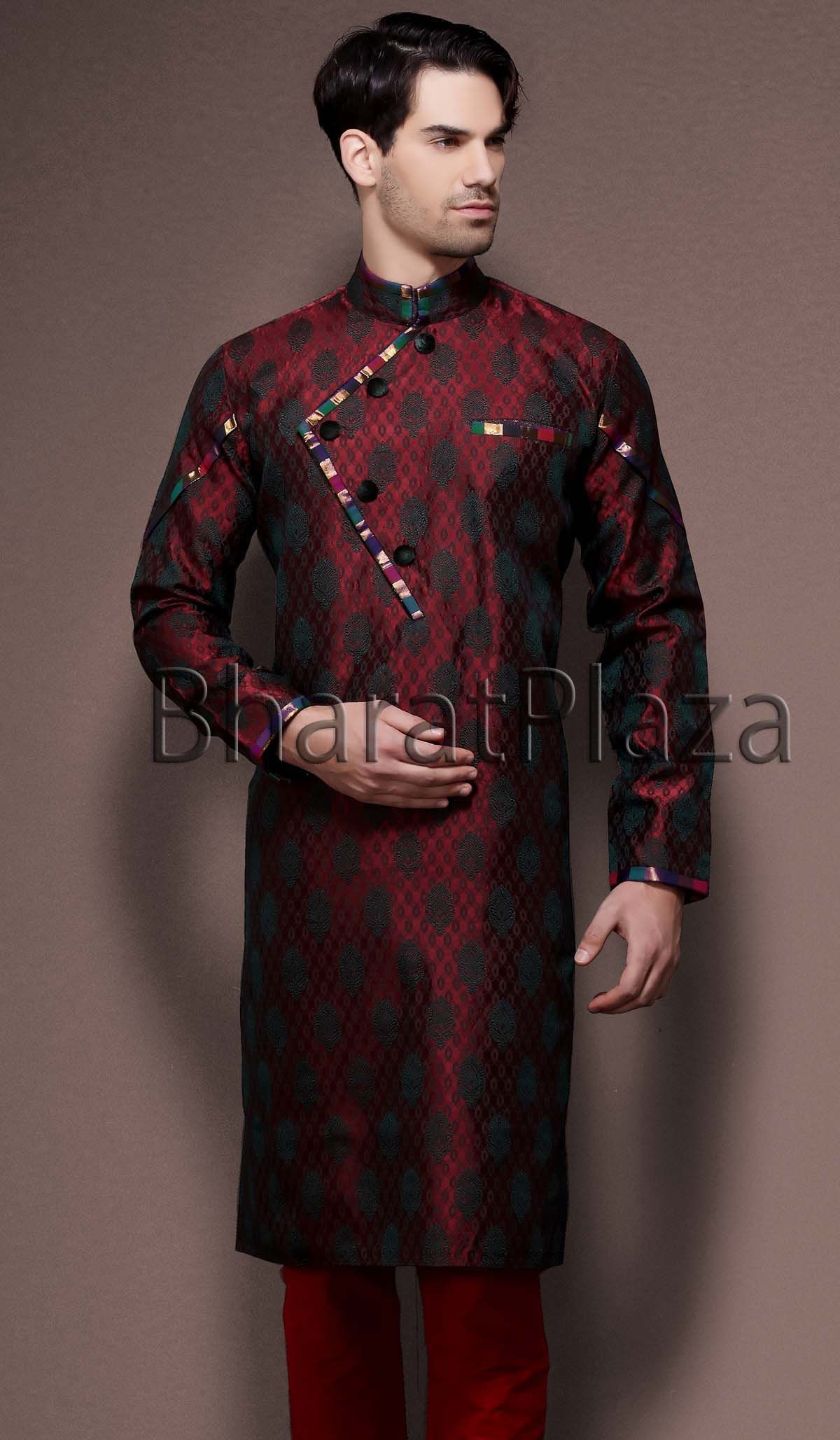 Latest Trends Angrakha Pattern Kurta Item code SKB2108