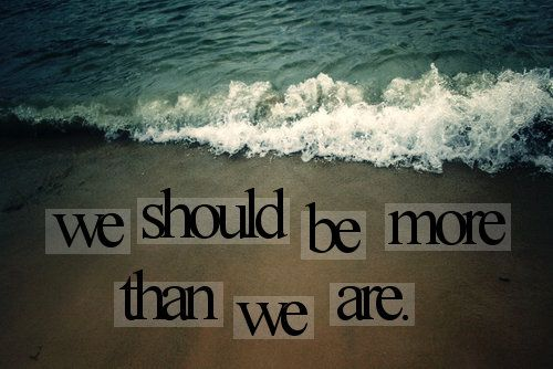 more than we are