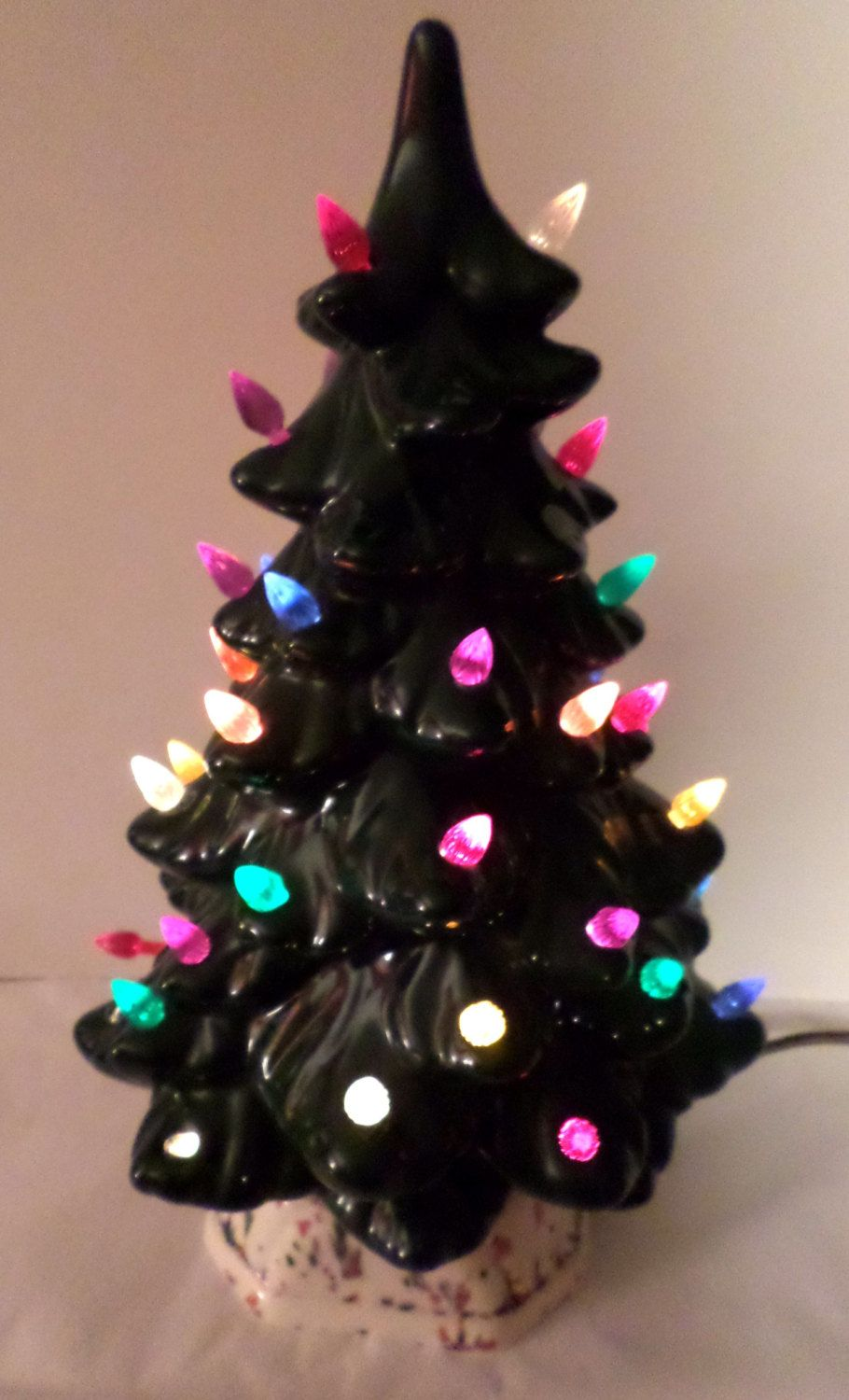 1970s tree 11 green ceramic tree light up christmas