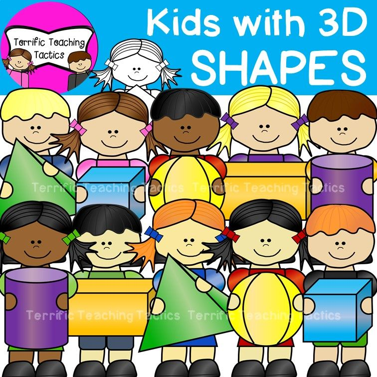 This Clipart Features 20 Bright And Colorful Kids Holding 3d