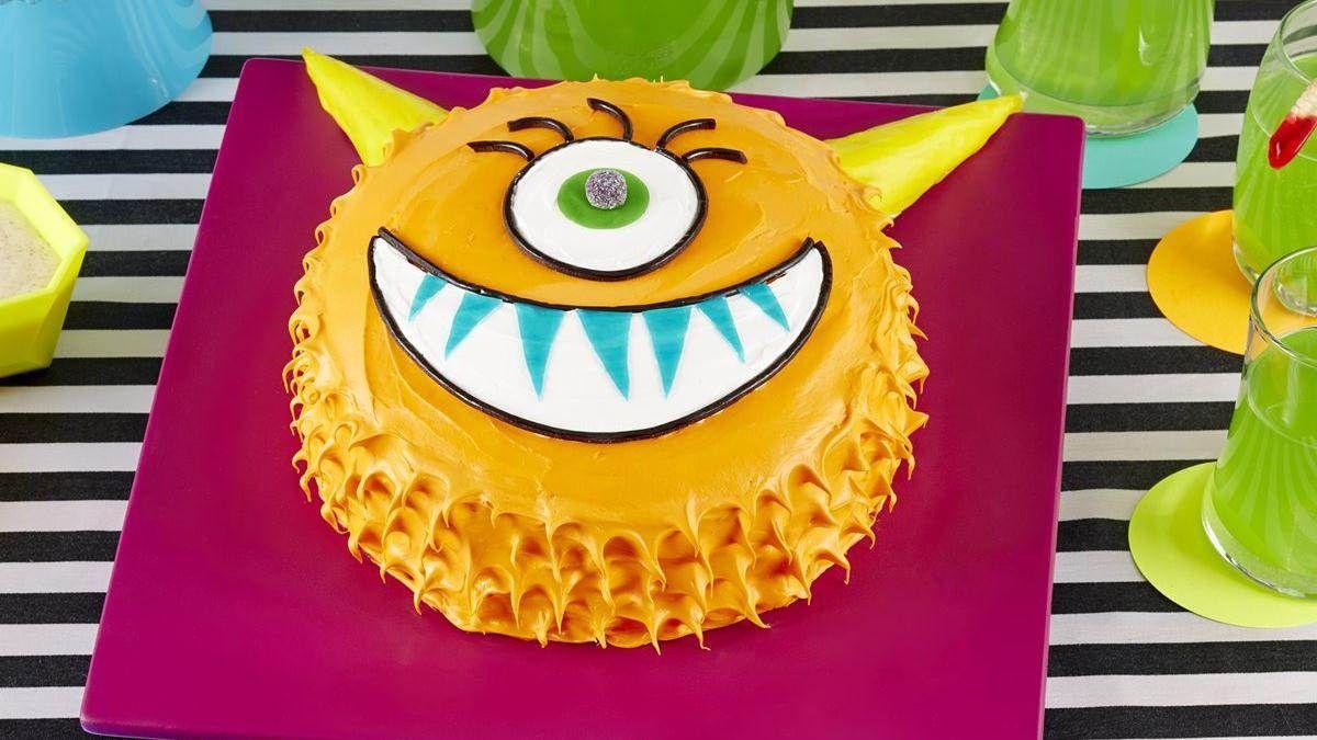 Groovy Kids Birthday Cakes Monster Birthday Parties Creative Birthday Funny Birthday Cards Online Elaedamsfinfo