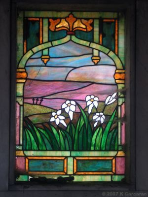 Oak Woods Cemetery, Chicago: Stained Glass Window, Wanner Mausoleum