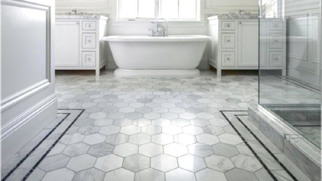Flooring Ideas: Vinyl Bathroom Floor With Hexagon Tile Pattern By | Protein  Life
