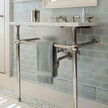Waterworks Tile Waterworks Universal Washstand Against