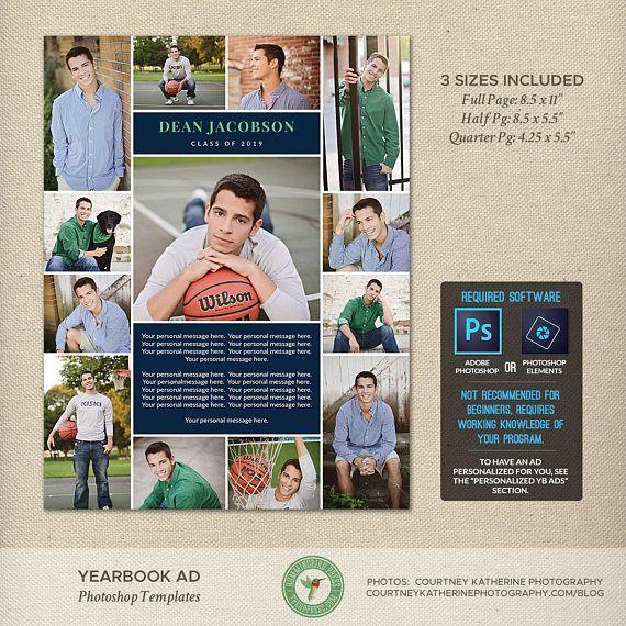 Senior Yearbook Ad Photoshop Templates Graduation Ad High School