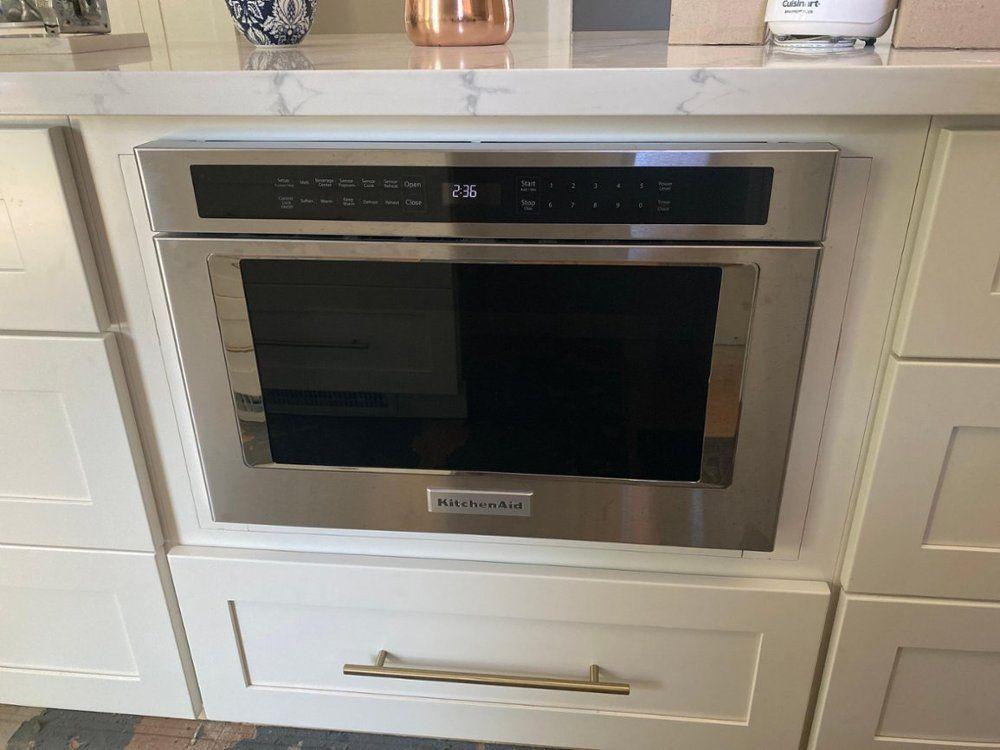 microwave drawer built