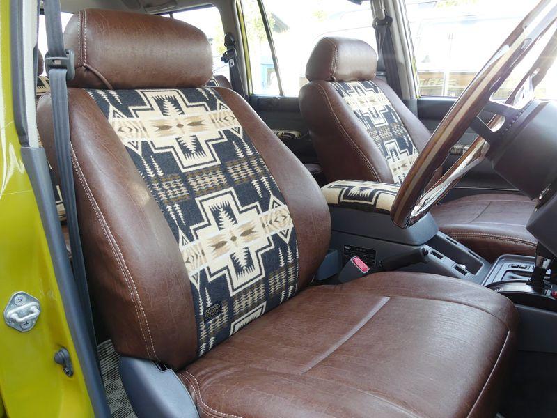 ランクル80用シートカバー ペンドルトンコラボ 日本製デビュー ランドクルーザー Toyota Landcruiser80 Pendleton Seat Caver Made In Japan ルイヴィトン ランドクルーザー シートカバー