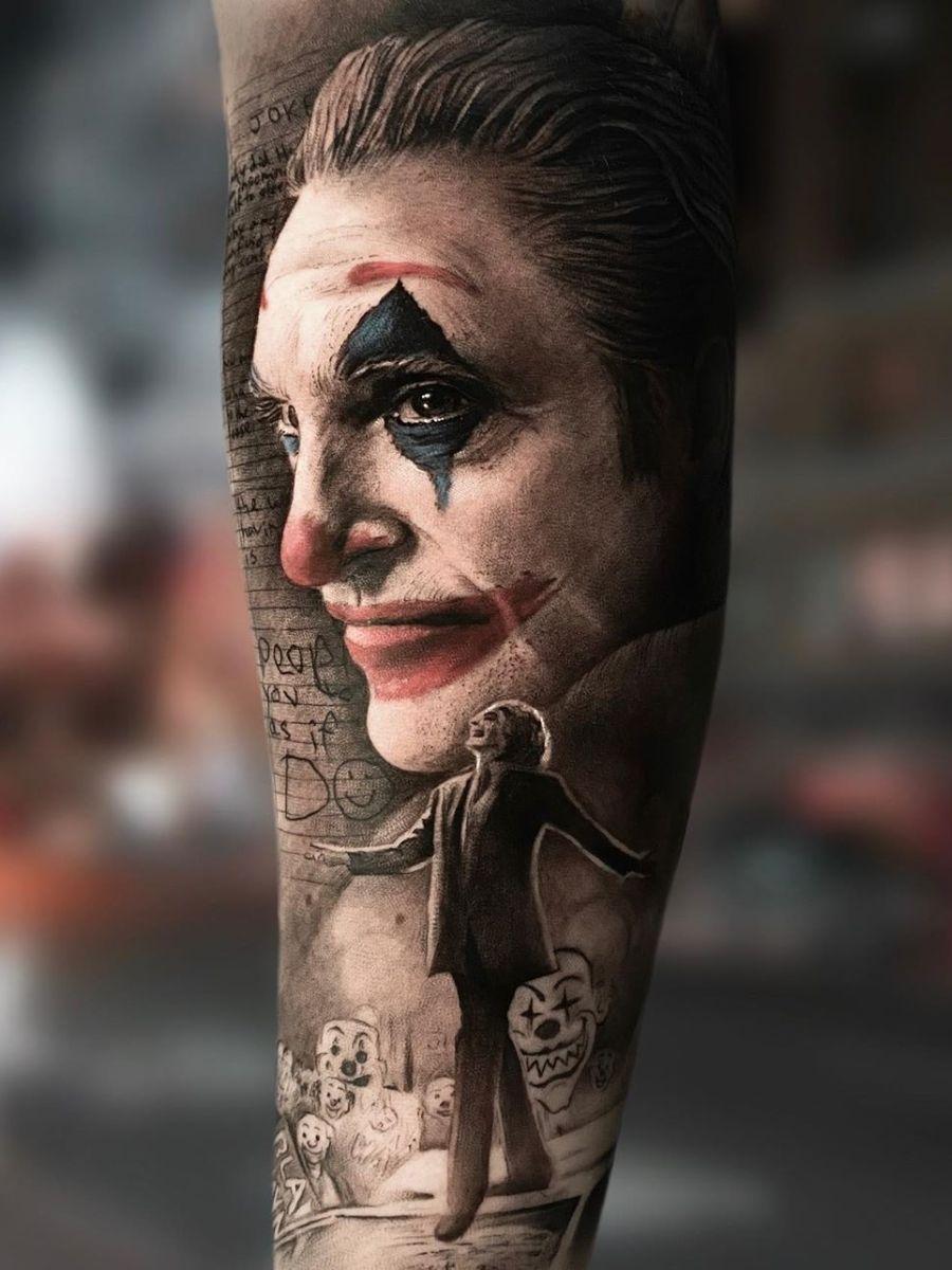 Joker Chest Tattoo : joker, chest, tattoo, Ramón, Twitter, Joker, Tattoo, Design,, Chest