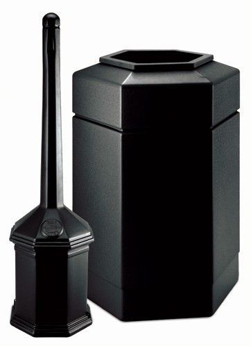 Smokers Outpost Hex 30 Gallon Trash Can Products Outdoor Trash