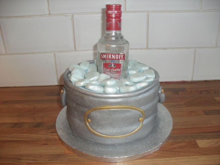 Absolut Vodka Bottle Cake