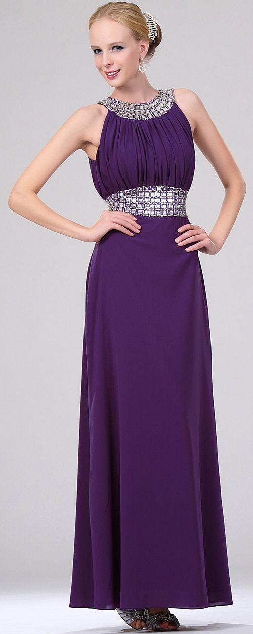 Este precioso vestido de noche esta desarrollado en chiffon elástico ...