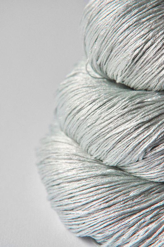 Pale icy morning - silk yarn, lace weight. DyeForYarn on Etsy.