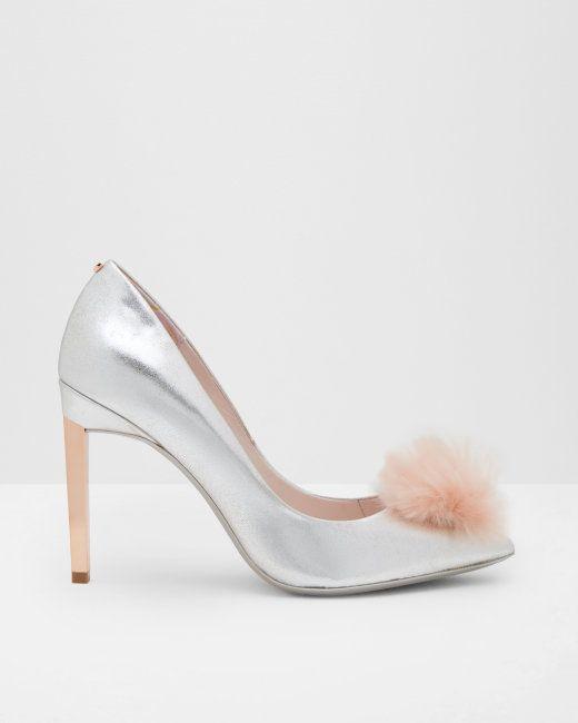 San Francisco 458e6 38175 Escarpins avec un pompon - Couleur argent | Chaussures | Ted ...